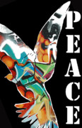 Fancy Eye Candy Prints - Graffiti Peace Print by adSpice Studios