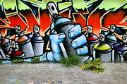 Tag Art Posters - Graffiti spray cans Poster by Richard Thomas