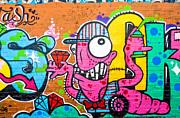 Graffiti Spray-worm Print by Yurix Sardinelly