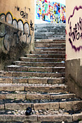Graffiti Steps Prints - Graffiti Stairs Print by John Rizzuto