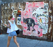 East Village Posters - Graffiti Poster by Steven Huszar