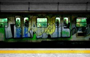Urban Acrylic Prints - Graffiti Train by Roberto Alamino