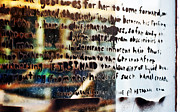Kathleen K Parker - Graffiti Words on Glass