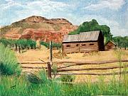 Log Cabin Pastels - Grafton  Utah by Jack Spath