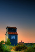 Ian Macdonald Metal Prints - Grain Elevator Metal Print by Ian MacDonald