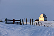Excess Prints - Grain Elevator Saskatchewan Canada winter Print by Mark Duffy