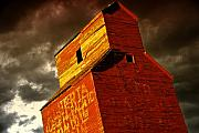 Abandoned Buildings Framed Prints - Grain Elevator Framed Print by Wayne Sherriff