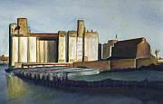 Patrick Paintings - Grain Elevators Buffalo River by Patrick Willett