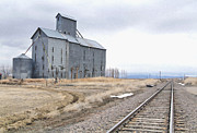 Train Tracks Photo Originals - Grain Mill in Loveland Co. by James Steele