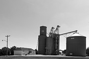 Grain Bin Posters - Grain processing facility in Shirley Illinois 2 Poster by Alan Look