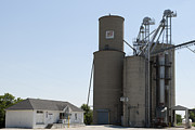 Grain Bin Posters - Grain processing facility in Shirley Illinois 3 Poster by Alan Look