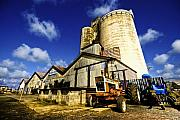Silos Framed Prints - Grain Silos Framed Print by Wayne Sherriff
