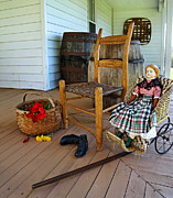Folk Art Photos - Grammys Front Porch by Carmen Del Valle