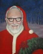 Father Christmas Prints - Grampa Johnson Print by Carrie Auwaerter