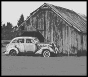 Barn Digital Art Prints - Gramps Car Print by Dale Stillman