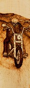Hill Pyrography Prints - Gramps Last Ride Print by Cheret Adar