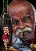 Grampy-betty Boop And Pink Elephant Print by Reggie Duffie