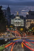 Spain Prints - Gran Via Print by Ayhan Altun