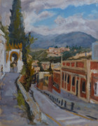 Granada Paintings - Granada - Calle de visitas de los angeles by Andrew Taylor