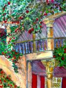 Roses Drawings - Granada Spain by Mindy Newman