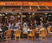 Paris Painting Metal Prints - Grand Bar Metal Print by Guido Borelli