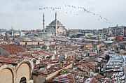 Flock Of Bird Art - Grand Bazaar In Istanbul by Salvator Barki