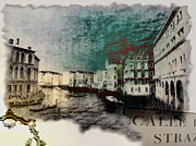 Towns Digital Art - Grand Canal Canal Grande by Monica Ghit
