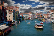 Vaporetto Posters - Grand Canal Daylight Poster by Harry Spitz