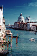 Vertical Prints - Grand Canal Of Venice Print by Michelle O