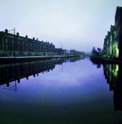 Reflection Of Buildings In Water Prints - Grand Canal, Portobello, Dublin, Co Print by The Irish Image Collection