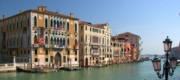 Accademia Photos - Grand Canal Venice at the Ponte dellAccademia  by Iain MacVinish