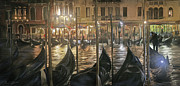 Gondolier Originals - Grand Canal Venice by Ron Morecraft