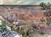 Rim Paintings - Grand Canyon 08 by Donald Maier