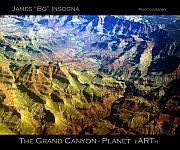 Coloful Posters - Grand Canyon Aerial View Poster by James Bo Insogna
