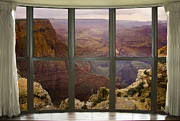 Window Art Framed Prints - Grand Canyon Bay Window View Framed Print by James Bo Insogna