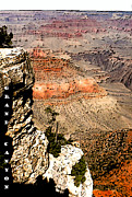 Grand Canyon Digital Art - Grand Canyon Cliff by Linda  Parker