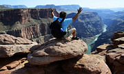 Grand Canyon Photos - Grand Canyon Feeling All Right by Bob Christopher