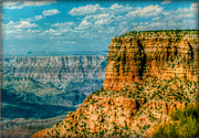 Striations Digital Art Acrylic Prints - Grand Canyon Gold Acrylic Print by Cindy Nunn