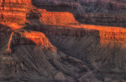 Cliff Photo Originals - Grand Canyon Light by Steve Gadomski