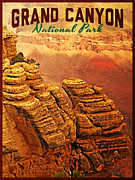 Grand Canyon Digital Art - Grand Canyon National Park by Vintage Poster Designs