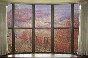 Window Art Framed Prints - Grand Canyon North Rim Bay Window View Framed Print by James Bo Insogna