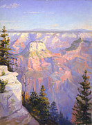 National Painting Posters - Grand Canyon North Rim Poster by Lewis A Ramsey