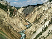 The Grand Canyon Of The Yellowstone Framed Prints - Grand Canyon of the Yellowstone Framed Print by Ken Smith