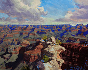 Point Park Painting Posters - Grand Canyon South Rim Poster by Gary Kim