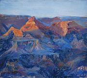 National Pastels Posters - Grand Canyon Study Poster by Billie Colson