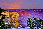 Note Card Posters - Grand Canyon Sunrise Poster by Ches Black