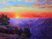 Grand Canyon Sunset Print by Gary Kim