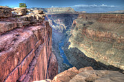 Grand Canyon Of Arizona Posters - Grand Canyon Toroweap Vista Poster by Bob Christopher