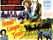 The Horse Posters - Grand Canyon Trail, From Left In Color Poster by Everett