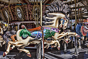 Carrousels Prints - Grand Carousel Hourse Print by Garry Gay